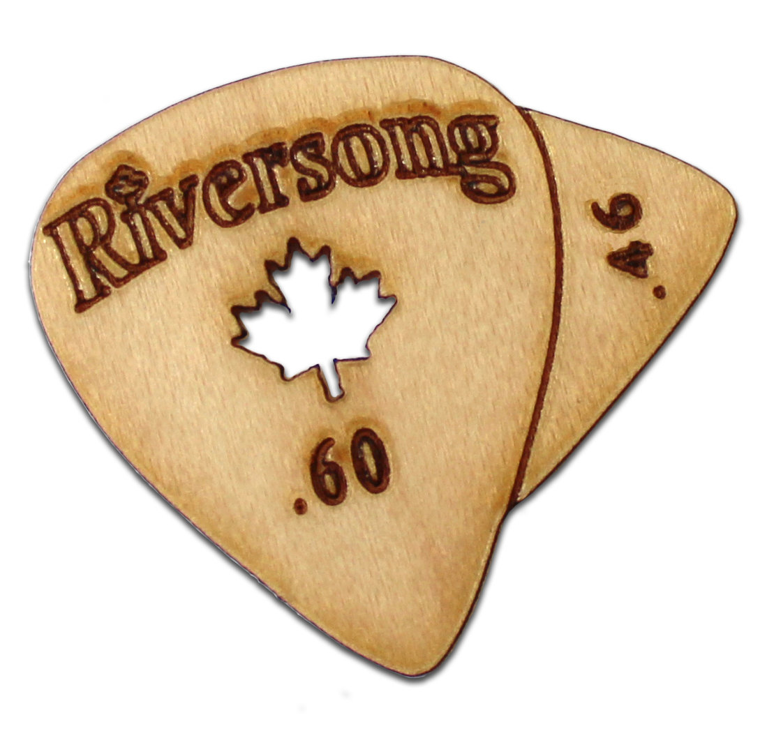"Riversong ""Beak"" Wooden Guitar Picks"