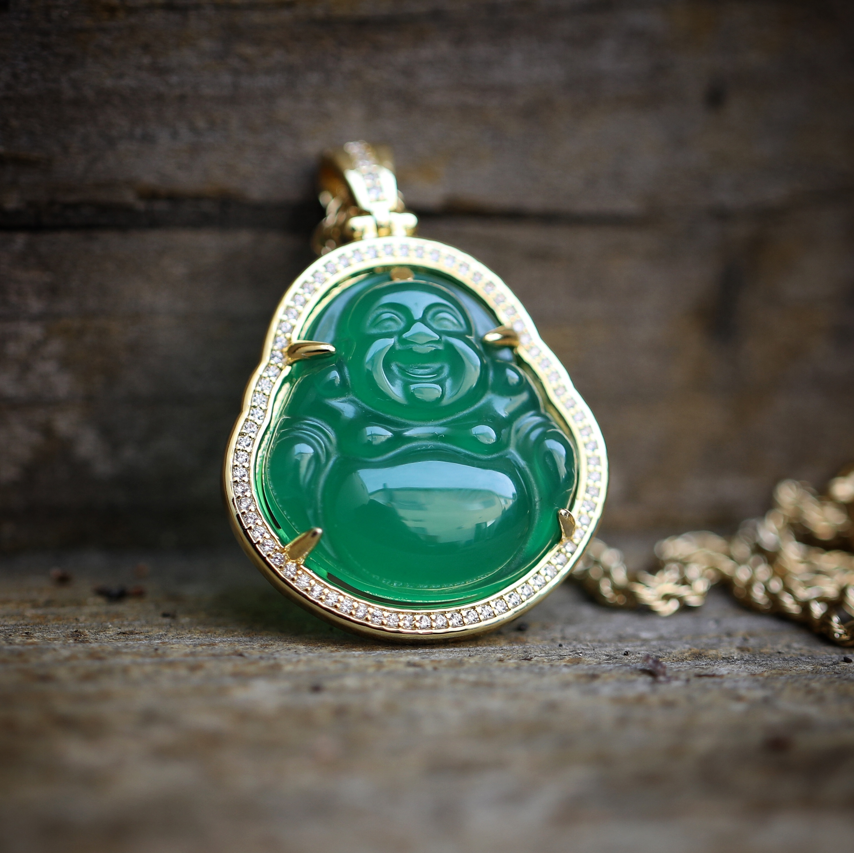 Hip hop gold green jade buddha pendant necklace mens hip hop 0431 hip hop gold green jade buddha pendant necklace mozeypictures Images