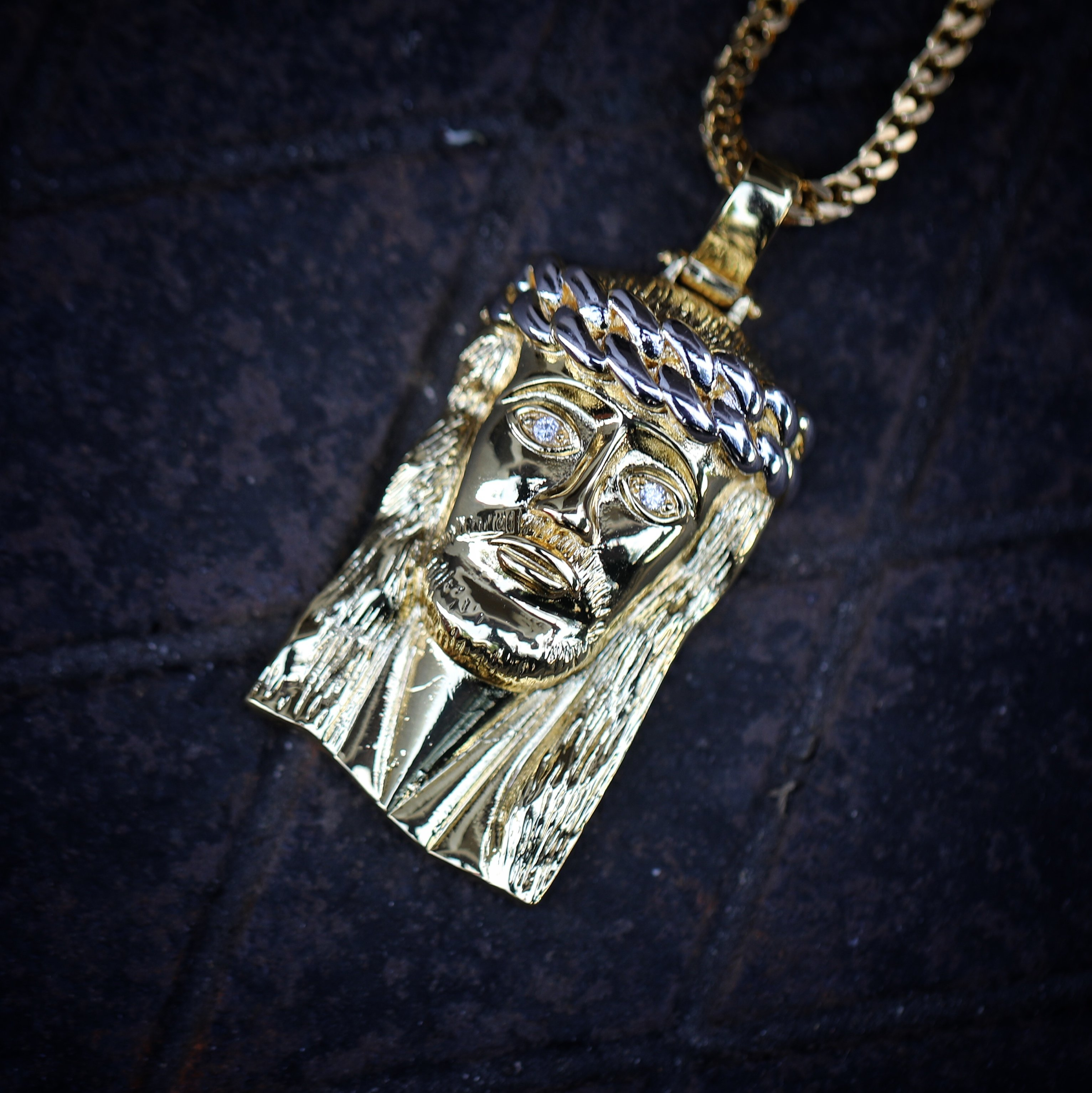 Hip hop 18k gold jesus piece pendant and franco chain mens hip 0472 hip hop 18k gold jesus piece pendant and franco chain aloadofball Image collections