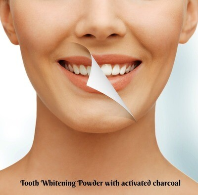 Tooth Whitening Powder W/Activated  Charcoal (3 month supply) 2oz jar