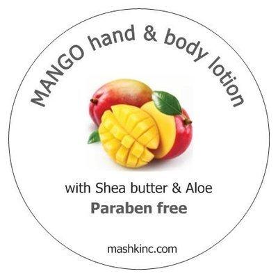 Paraben free Lotion MANGO 8 oz