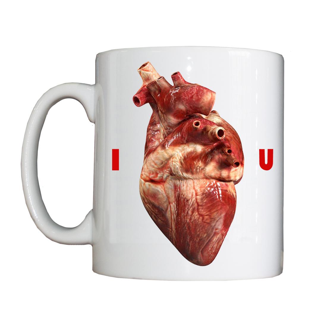 Personalised 'I 'Heart' U' Valentine's Drinking Vessel ValentineVessel