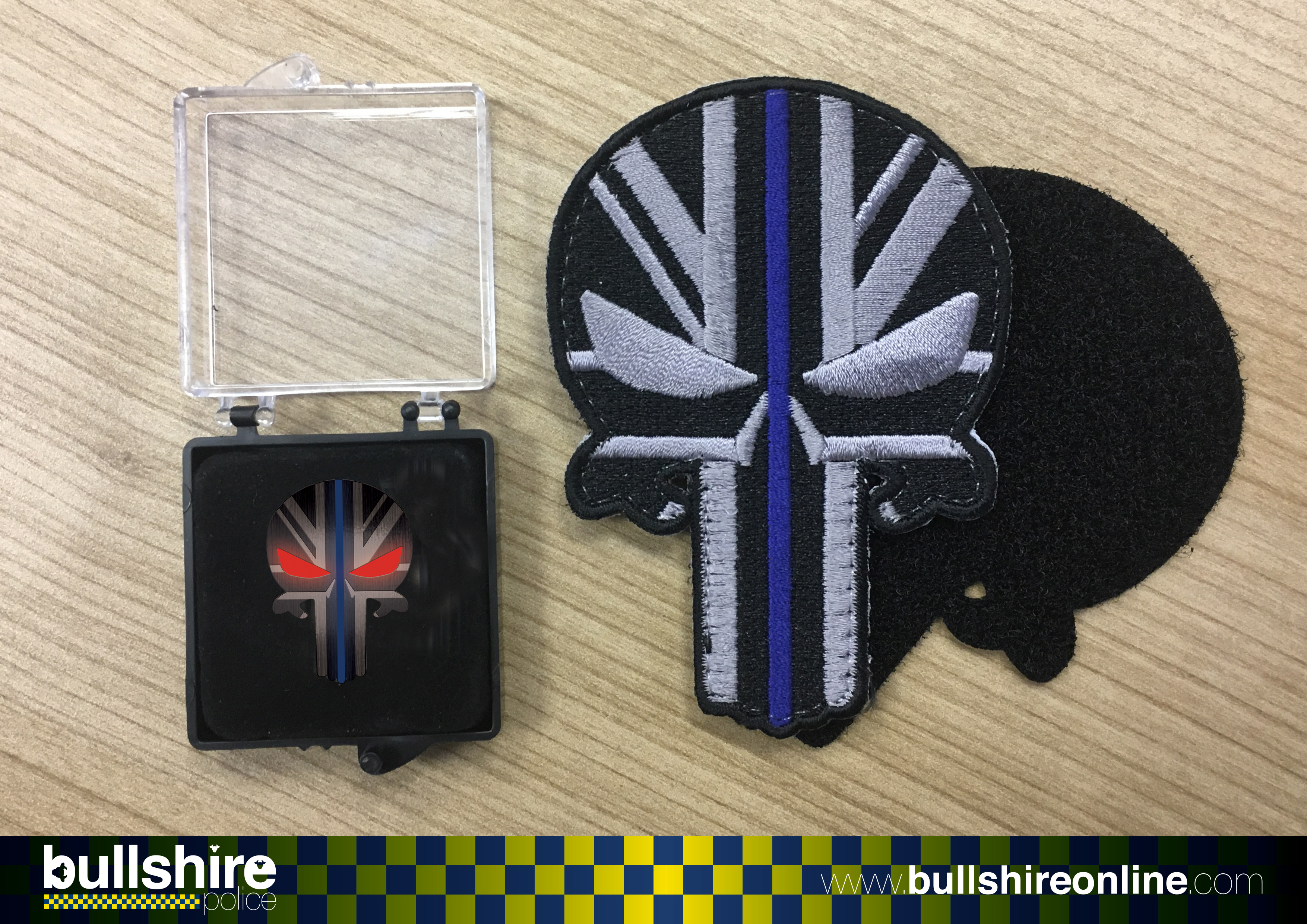 'STEALTH Punisher Bull' Pin Badge and Patch Combo