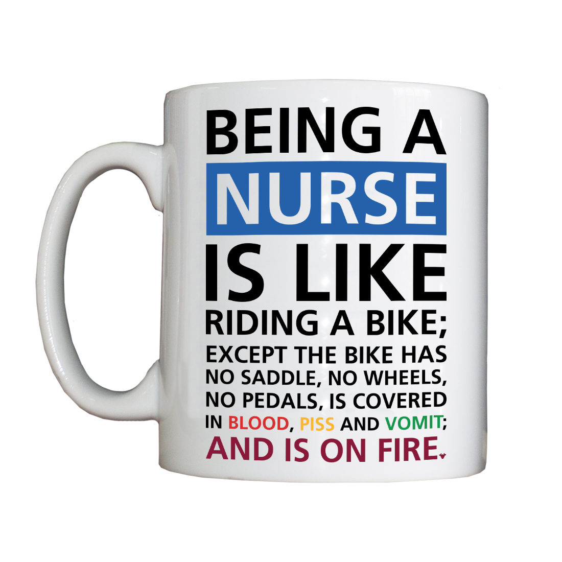 Personalised 'Being a Nurse...' Drinking Vessel BeingaNurseVessel