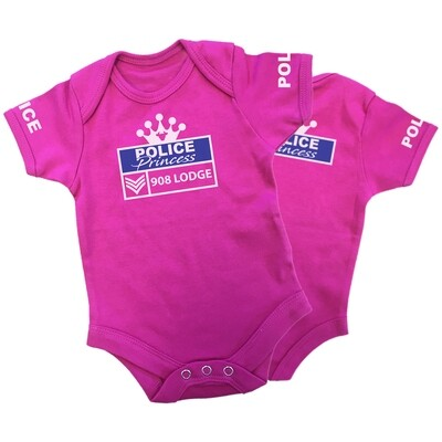 Personalised 'Police Princess' Baby Grow