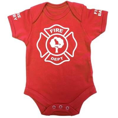 Personalised 'Fire Baby' Baby Grow