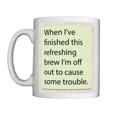 Personalised 'Trouble Causer ' Mug