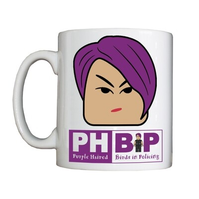 Personalised 'Purple Haired Birds in Policing' Drinking Vessel