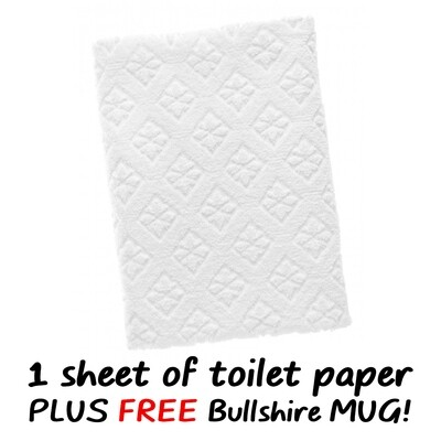 1 (One) Sheet of Toilet Paper (plus FREE Mug)