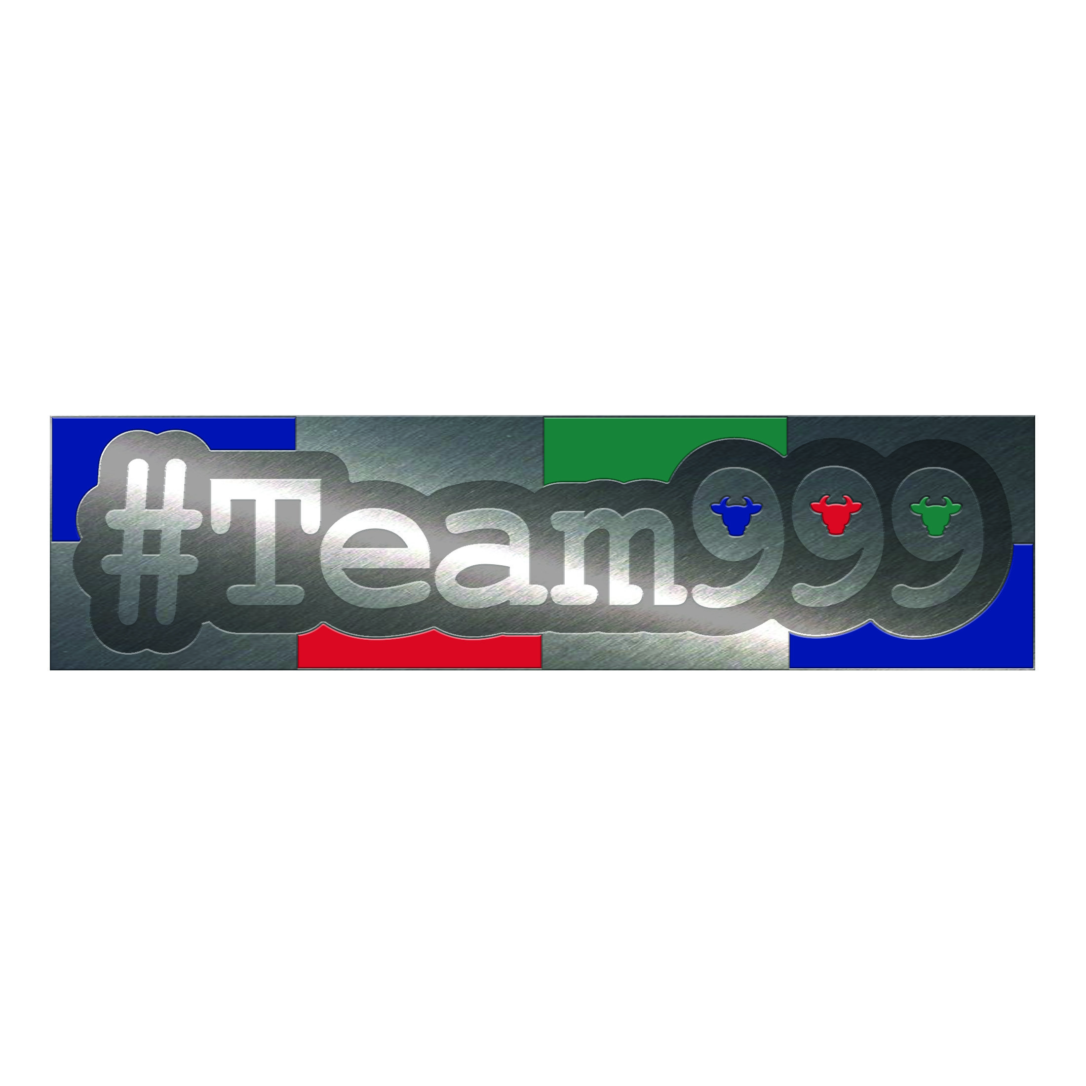 Real Silver Plated #Team999 Pin Badge Team999PB