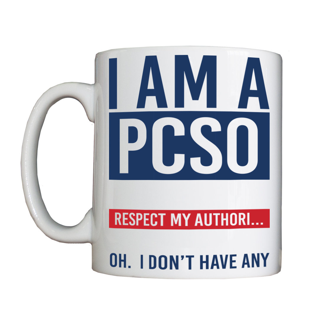 Personalised 'I am a PCSO' Drinking Vessel (Mug) PCSOMUG