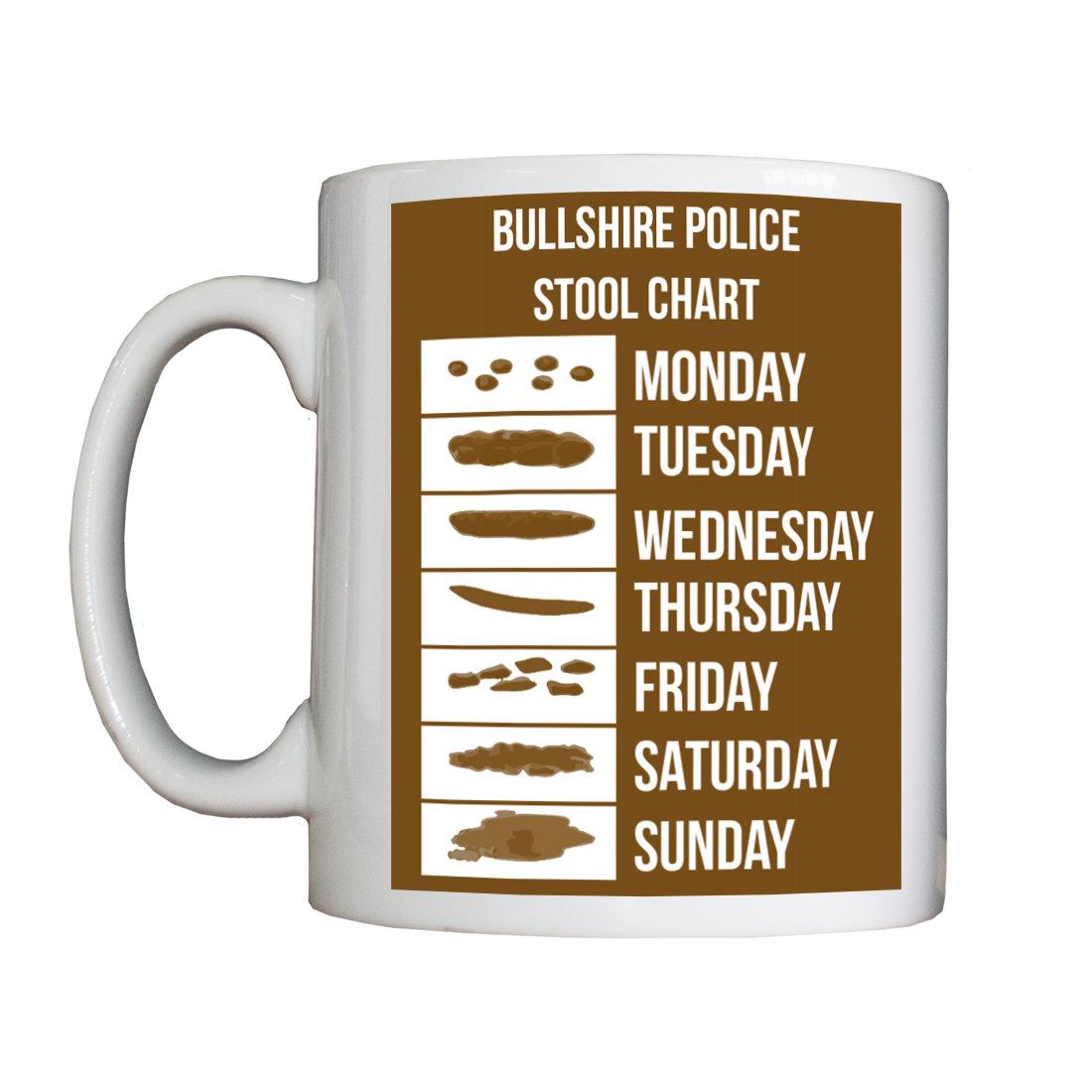 Personalised 'Bullshire Stool Chart' Mug StoolChartMug