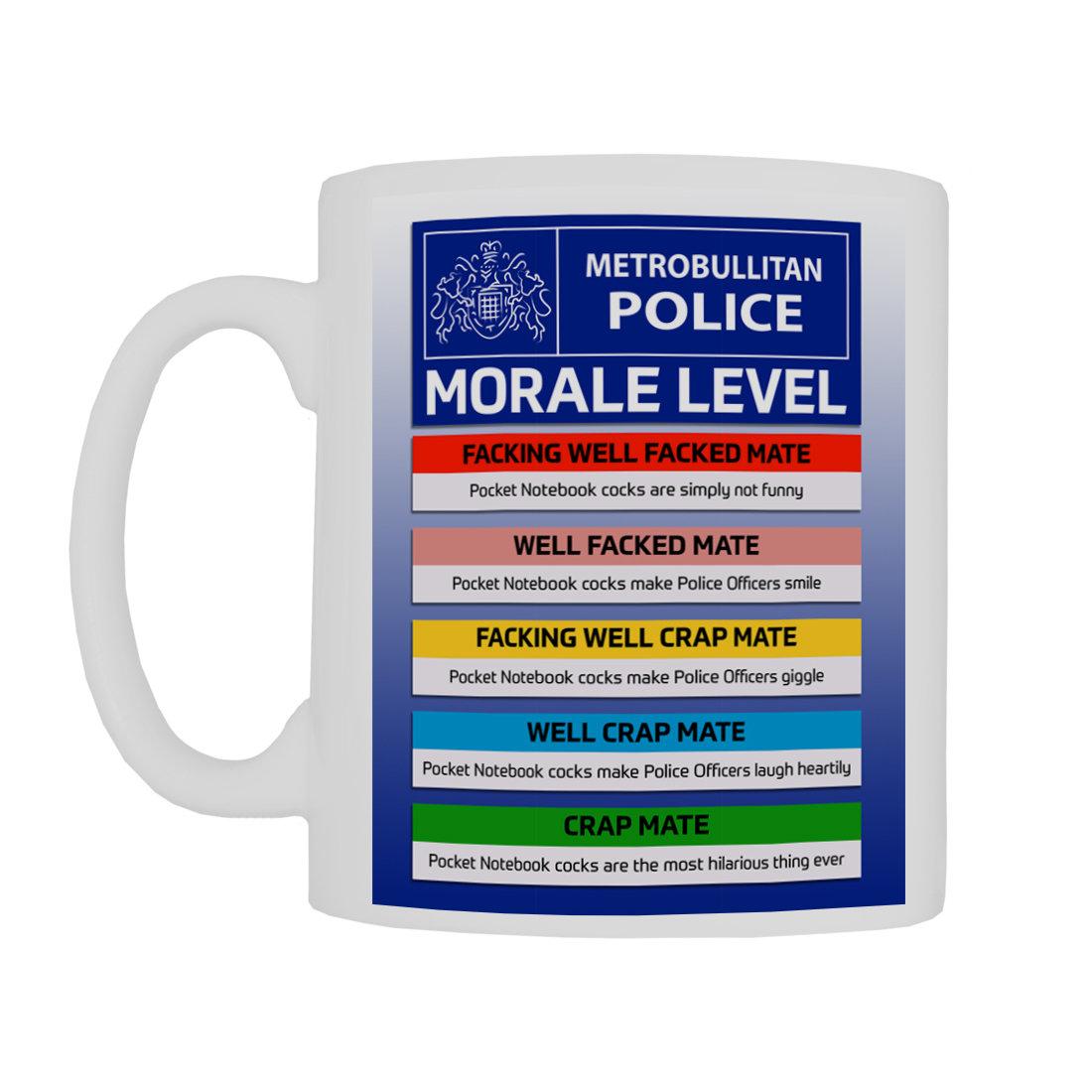 Personalised 'MetBull Morale Levels' Mug MetBullMoraleLevelsMugForce