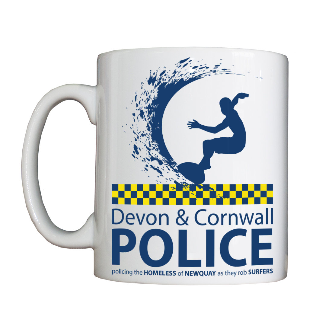 Personalised 'Devon and Cornwall' Mug SurferMug