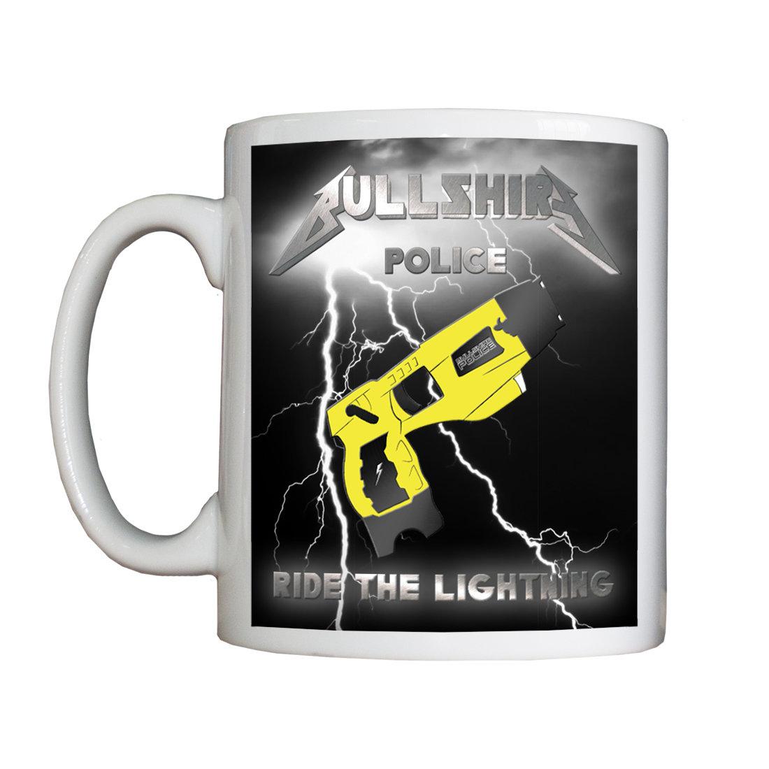 Personalised 'Ride the Lightning' Mug Bzzz RideTheLightningMugBzzzTASER