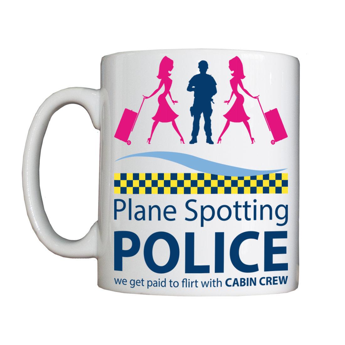 "Personalised ""Plane Spotting Police"" Drinking Vessel PlaneSpottingVessel"