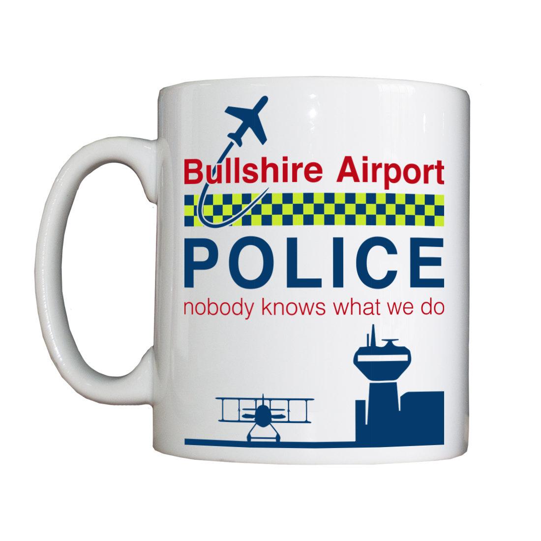 """Personalised """"Bullshire Airport Police"""" Drinking Vessel PlaneAirportPoliceVessel"""