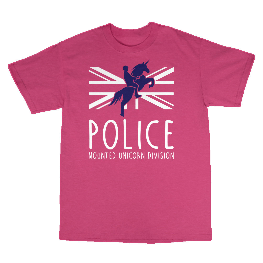 Children's 'Mounted Unicorn Division' T-Shirt MountedUnicornDivisionT