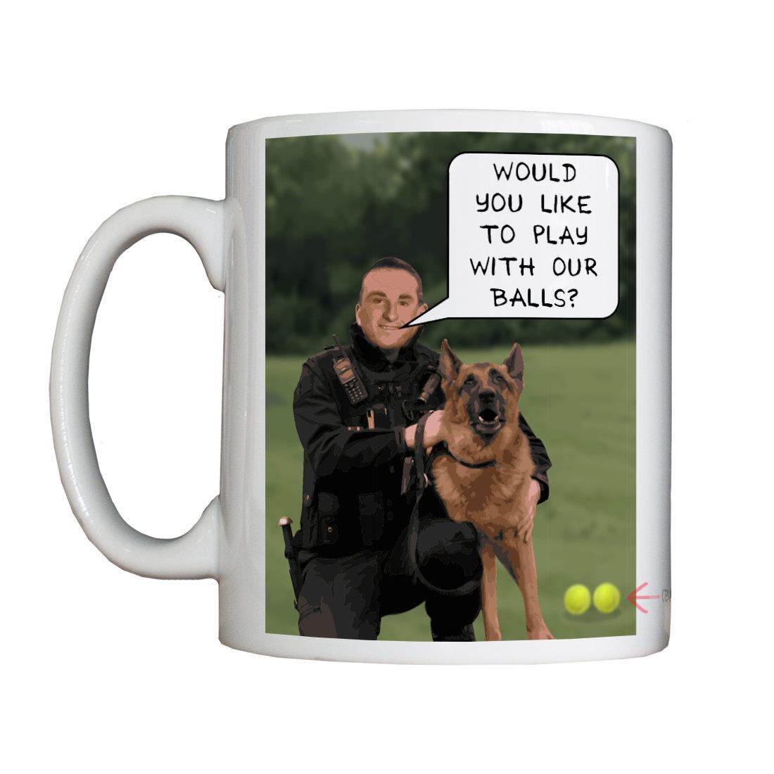 Personalised 'Dog Man' Drinking Vessel DogManVessel