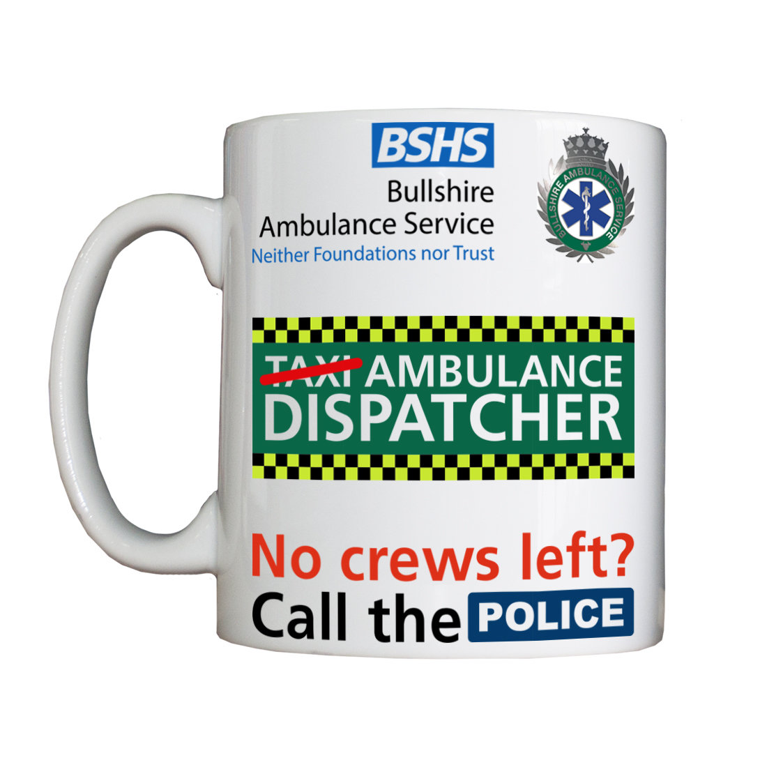 Personalised 'Ambulance Dispatcher' Drinking Vessel AmbDispatchVessel