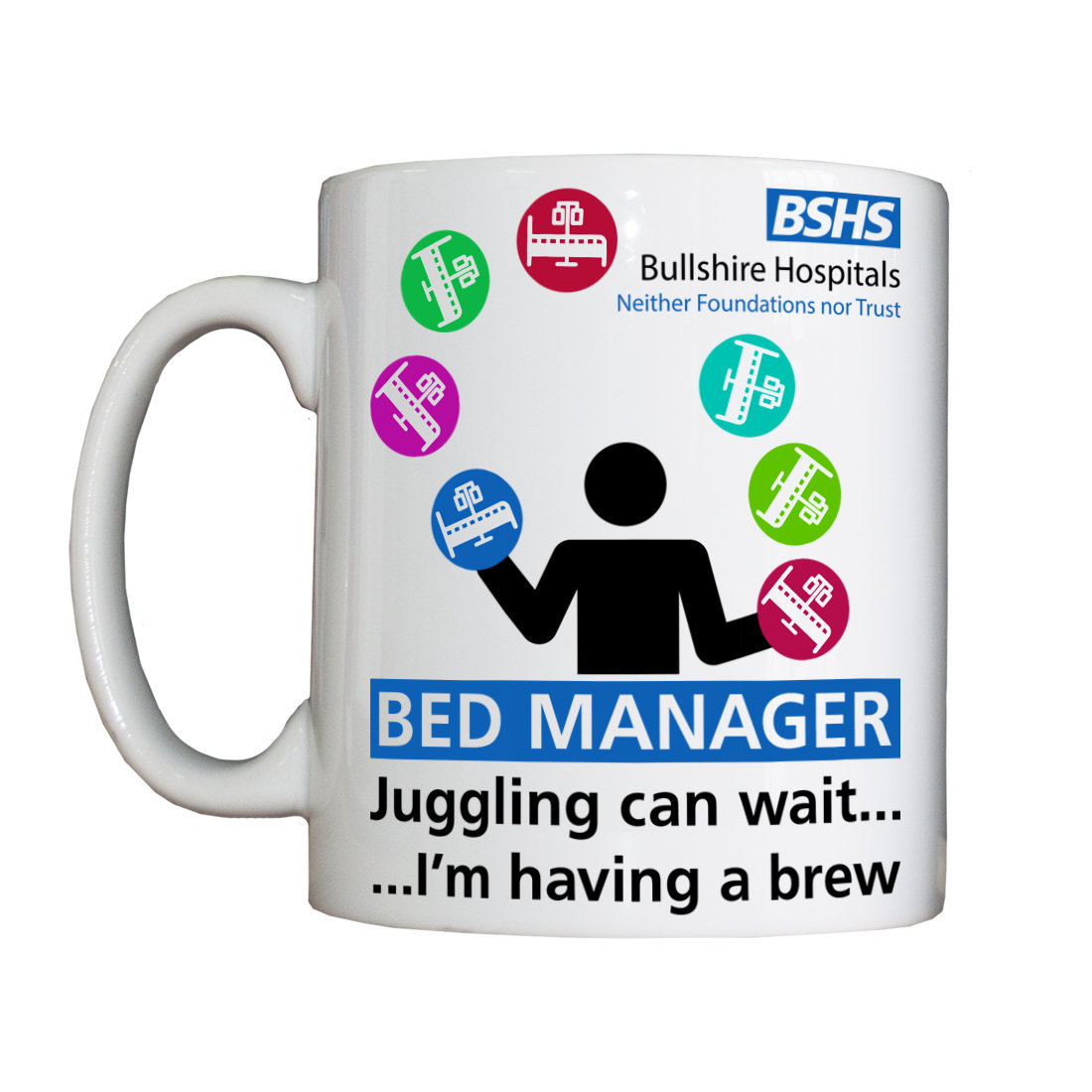 Personalised 'Bed Manager' Drinking Vessel BSHSBedManagerVessel