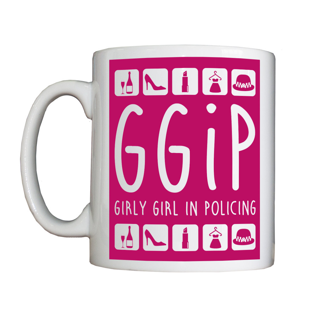 Personalised 'Girly Girl in Policing' Drinking Vessel GGIPVessel