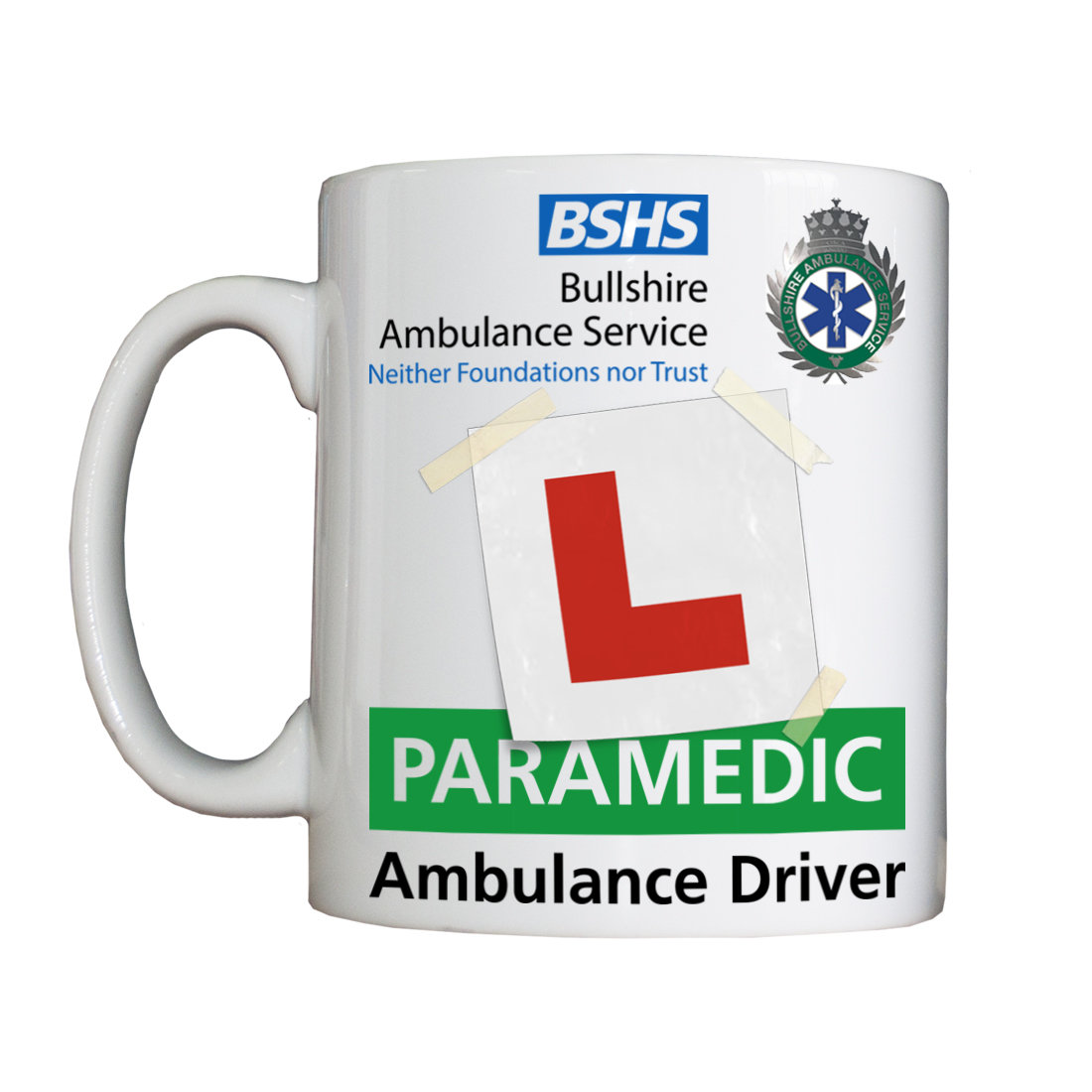 Personalised 'Learner Paramedic' Drinking Vessel LearnerParamedicVessel