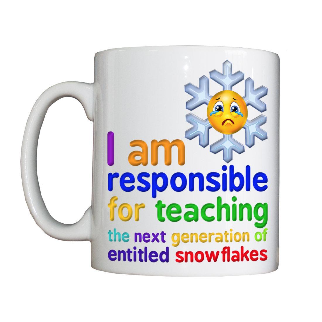Personalised 'Snowflake Teacher' Drinking Vessel SnowflakeTeacherVessel