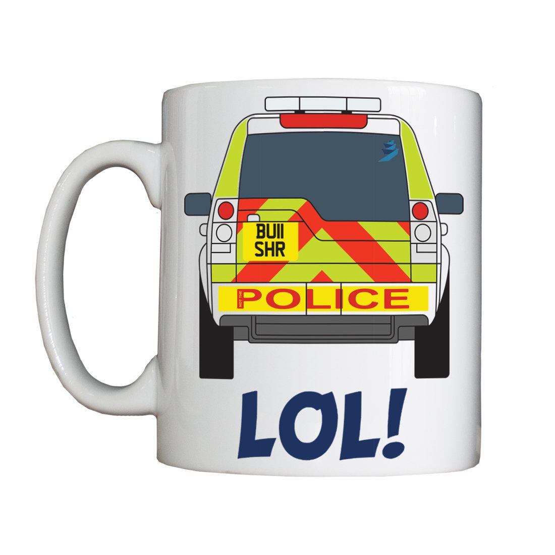 Personalised 'Not the Police (Highways Bullshire)' Mug HBNotThePoliceVessel