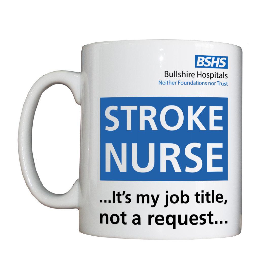 Personalised 'Stroke Nurse' Drinking Vessel BSHSStrokeNurseVessel