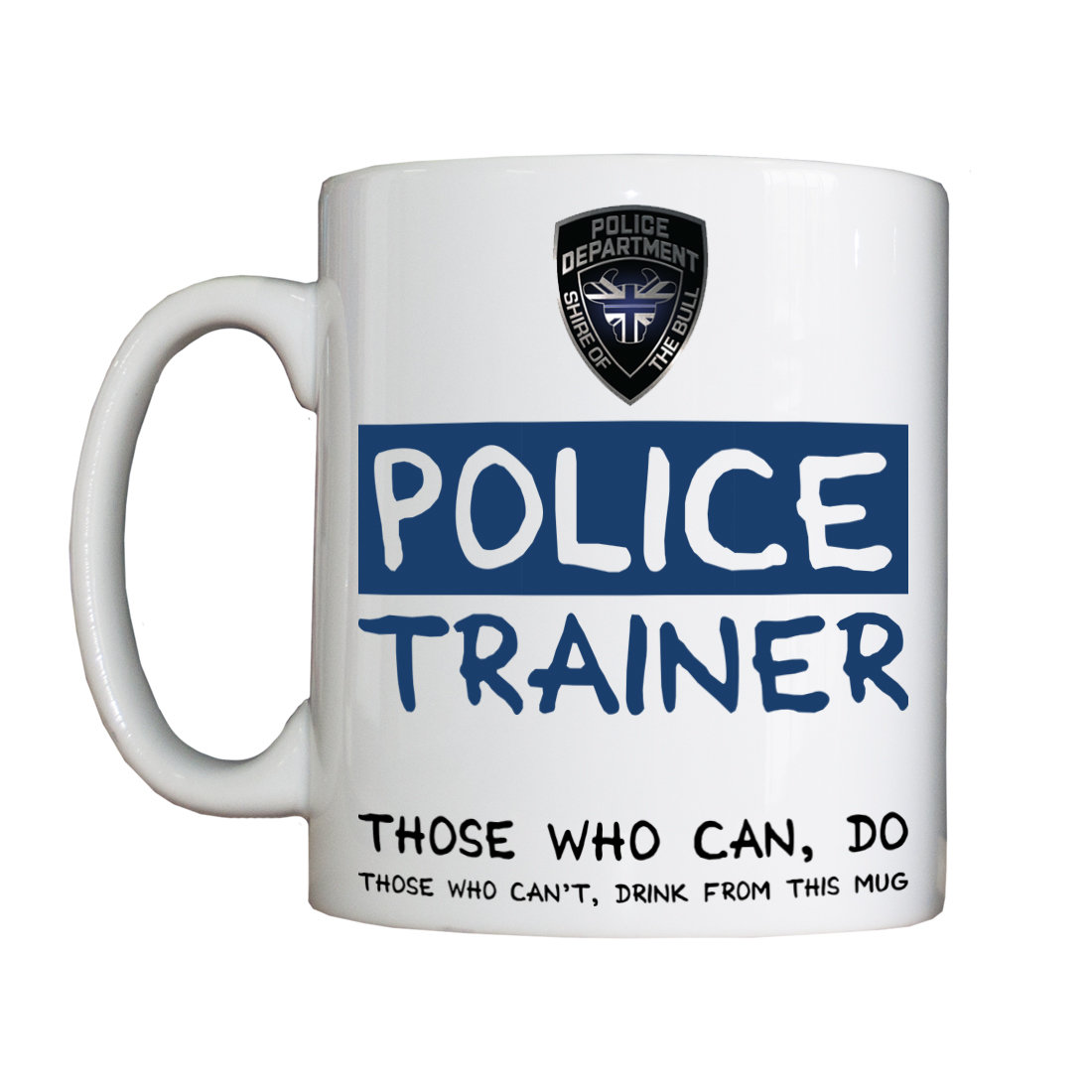 Personalised 'Police Trainer' Drinking Vessel PoliceTrainerVessel