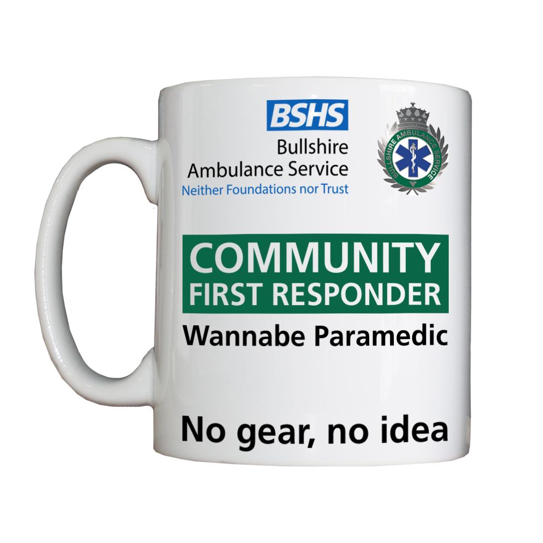 Personalised 'Community First Responder' Drinking Vessel CFRVesselAmbulance