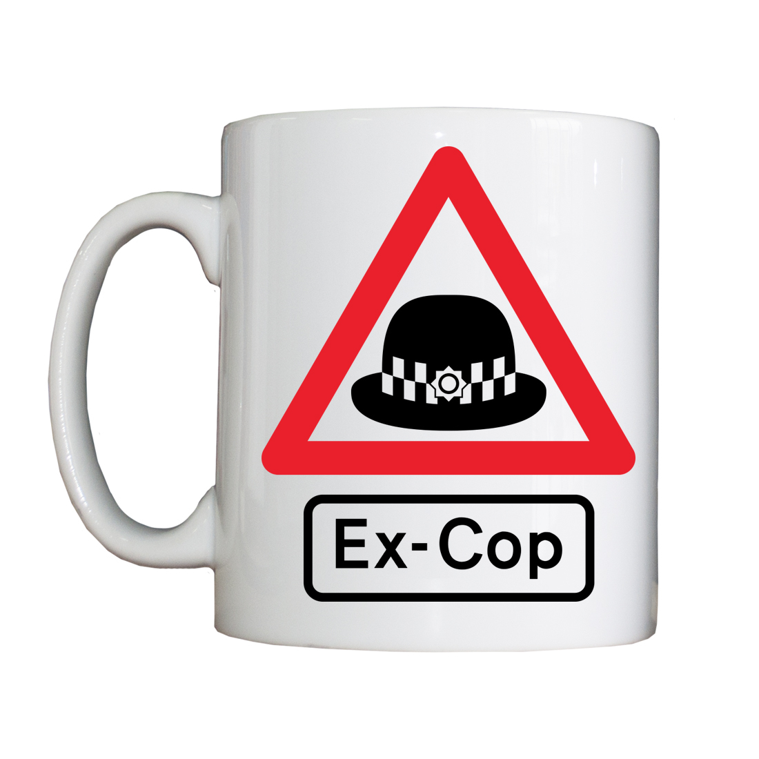 Personalised 'WARNING: Ex-Cop' Drinking Vessel