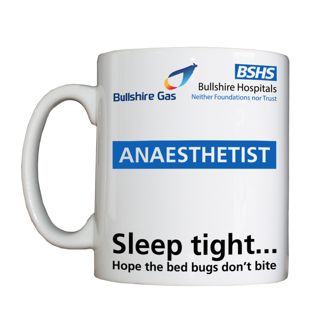 Personalised 'Bullshire Gas Anaesthetist' Drinking Vessel BSHSBullshireGasVessel