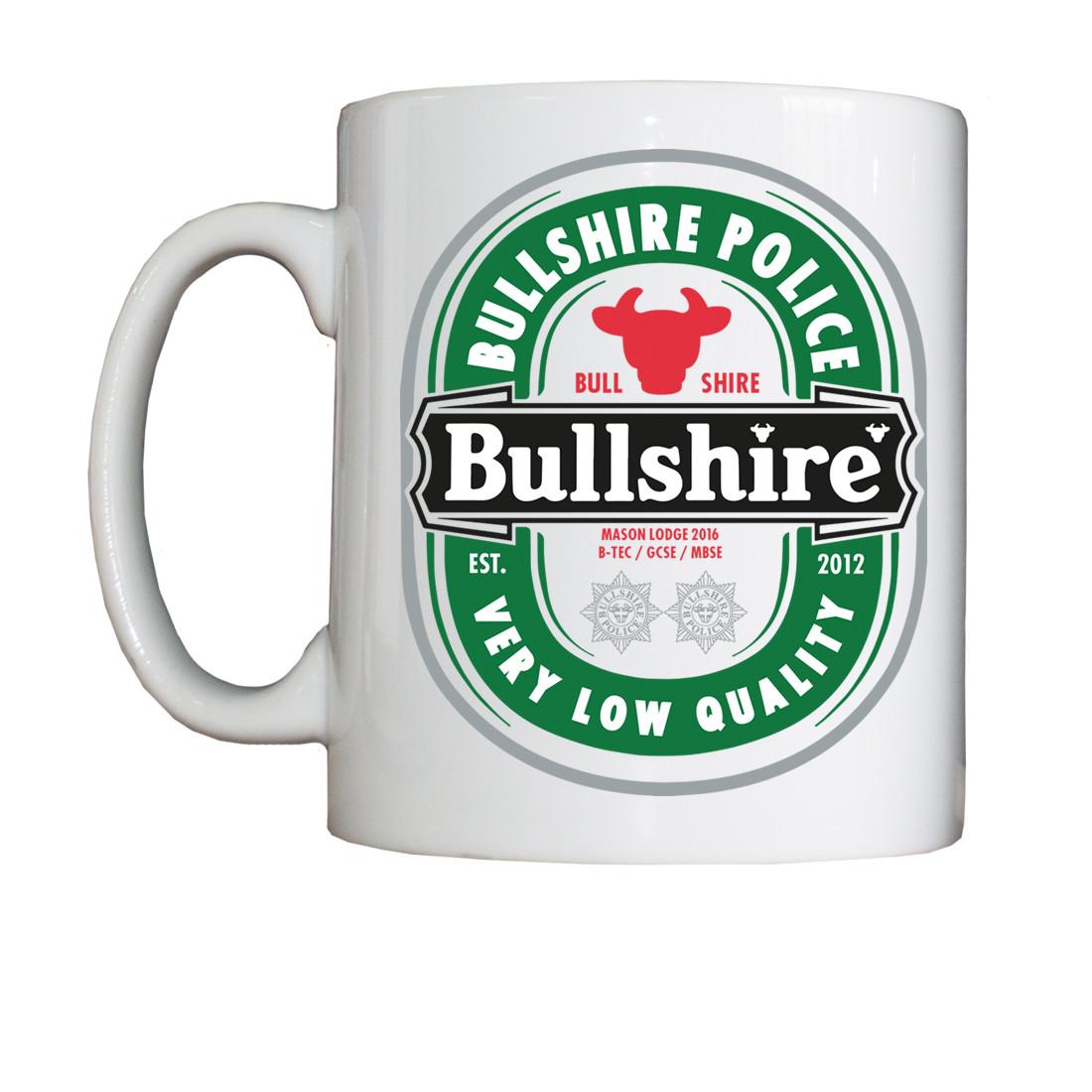 Personalised 'Bullshireken' Drinking Vessel (Mug)