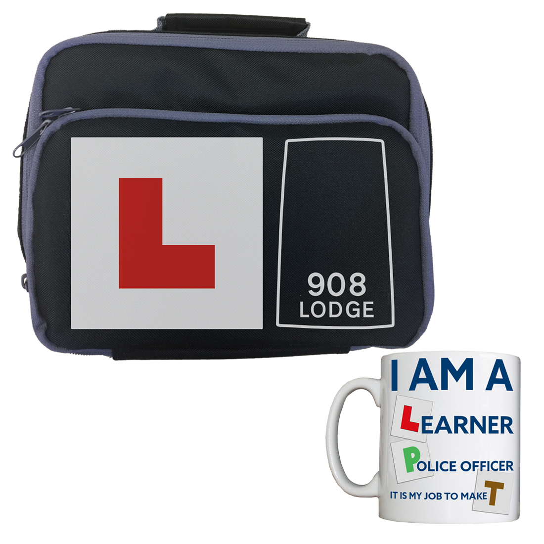 Personalised 'Learner Police Officer' Lunch Bag/Mug Combo LearnerCOMBO