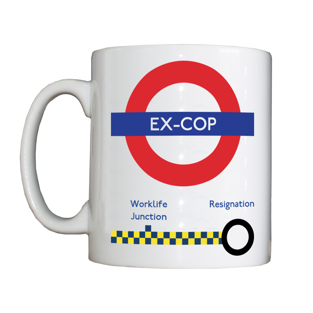 Personalised 'Tube Driver Ex-Cop' Drinking Vessel TUBEDriverExCopVessel