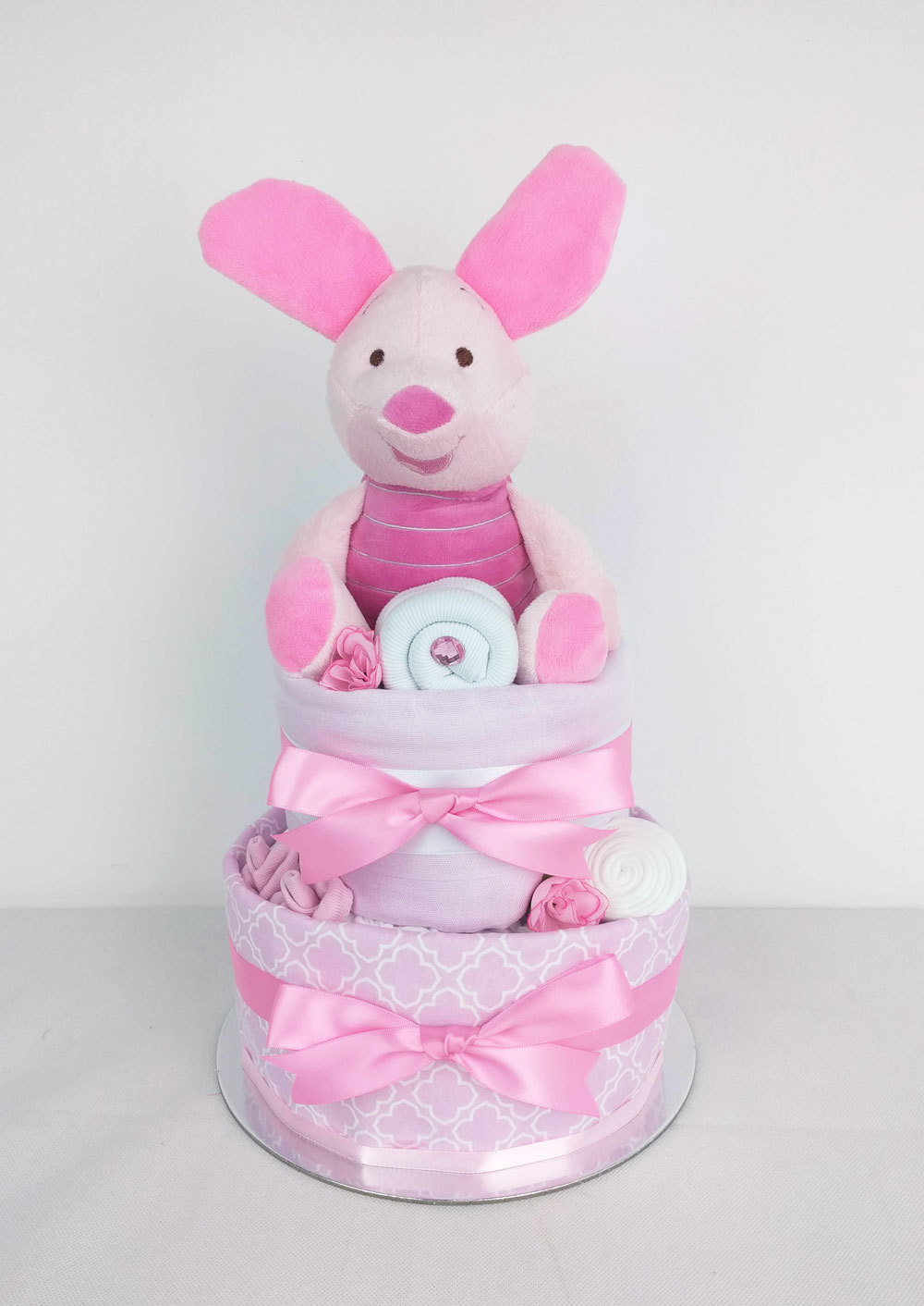 Two Tier Piglet Nappy Cake