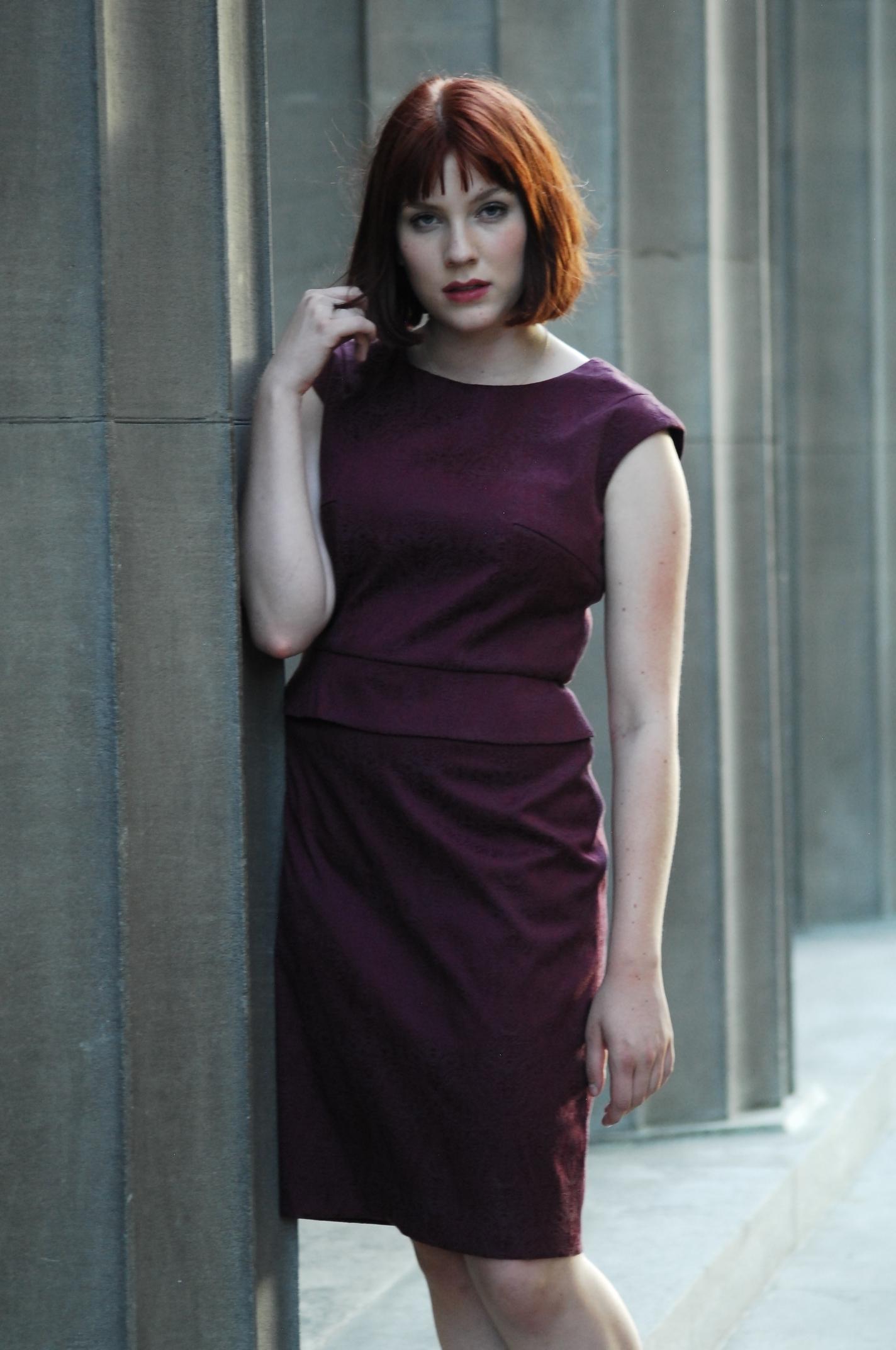 Rich Garnet Fitted Dress DRGT017