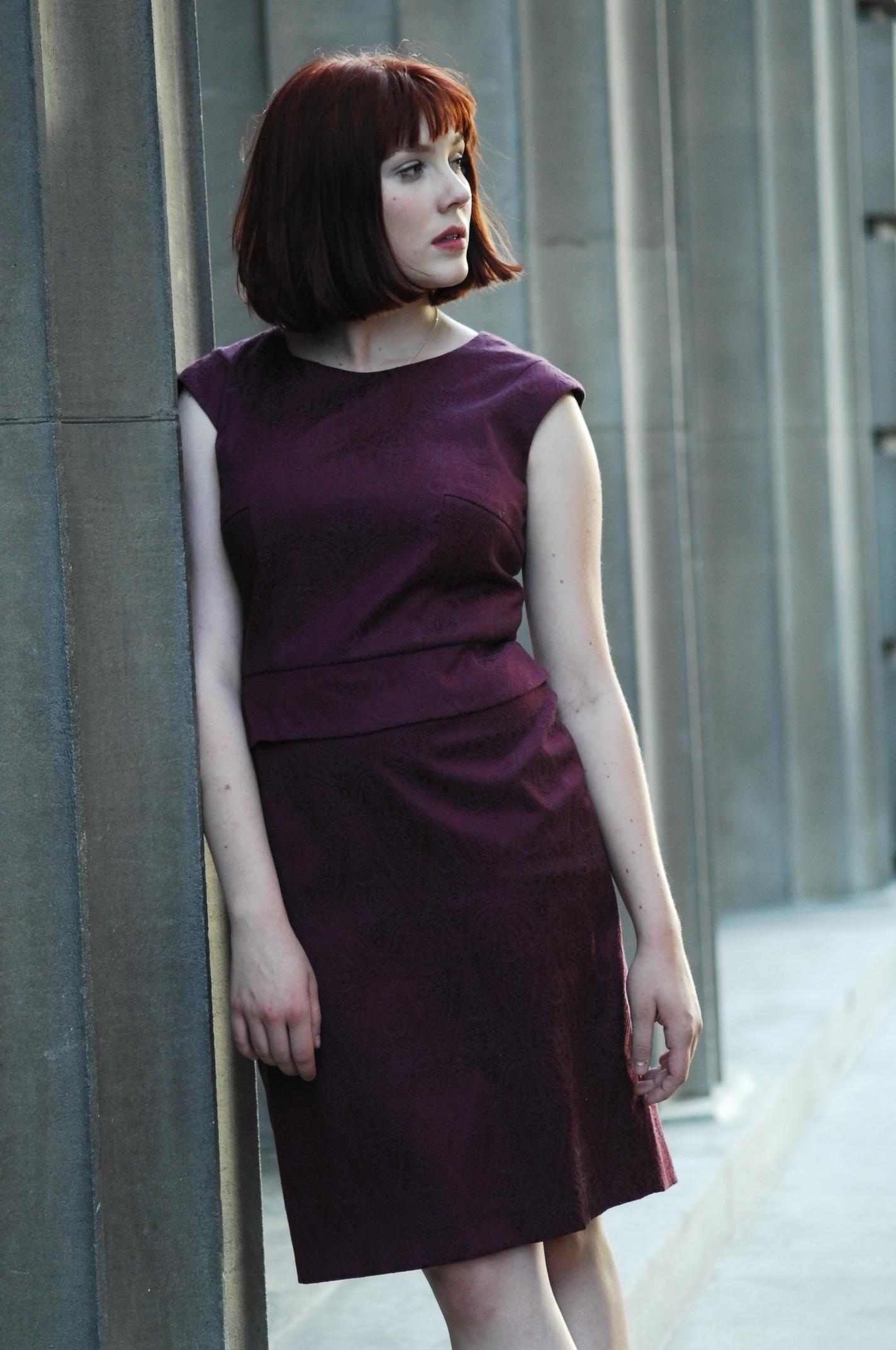 Rich garnet dress