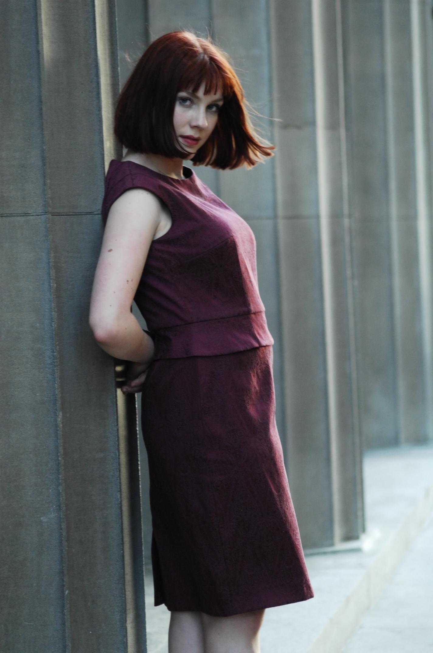 Rich Garnet Elegant dress