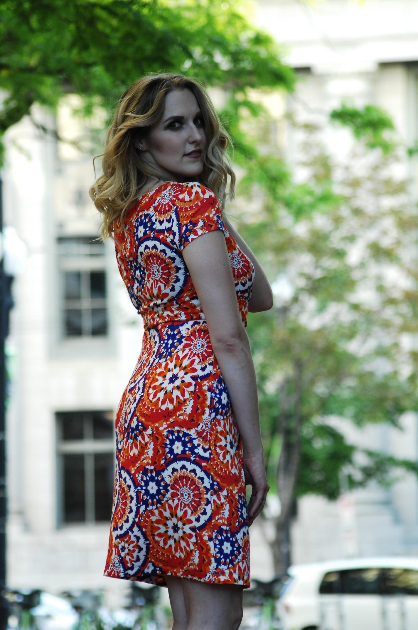 women orange dresses