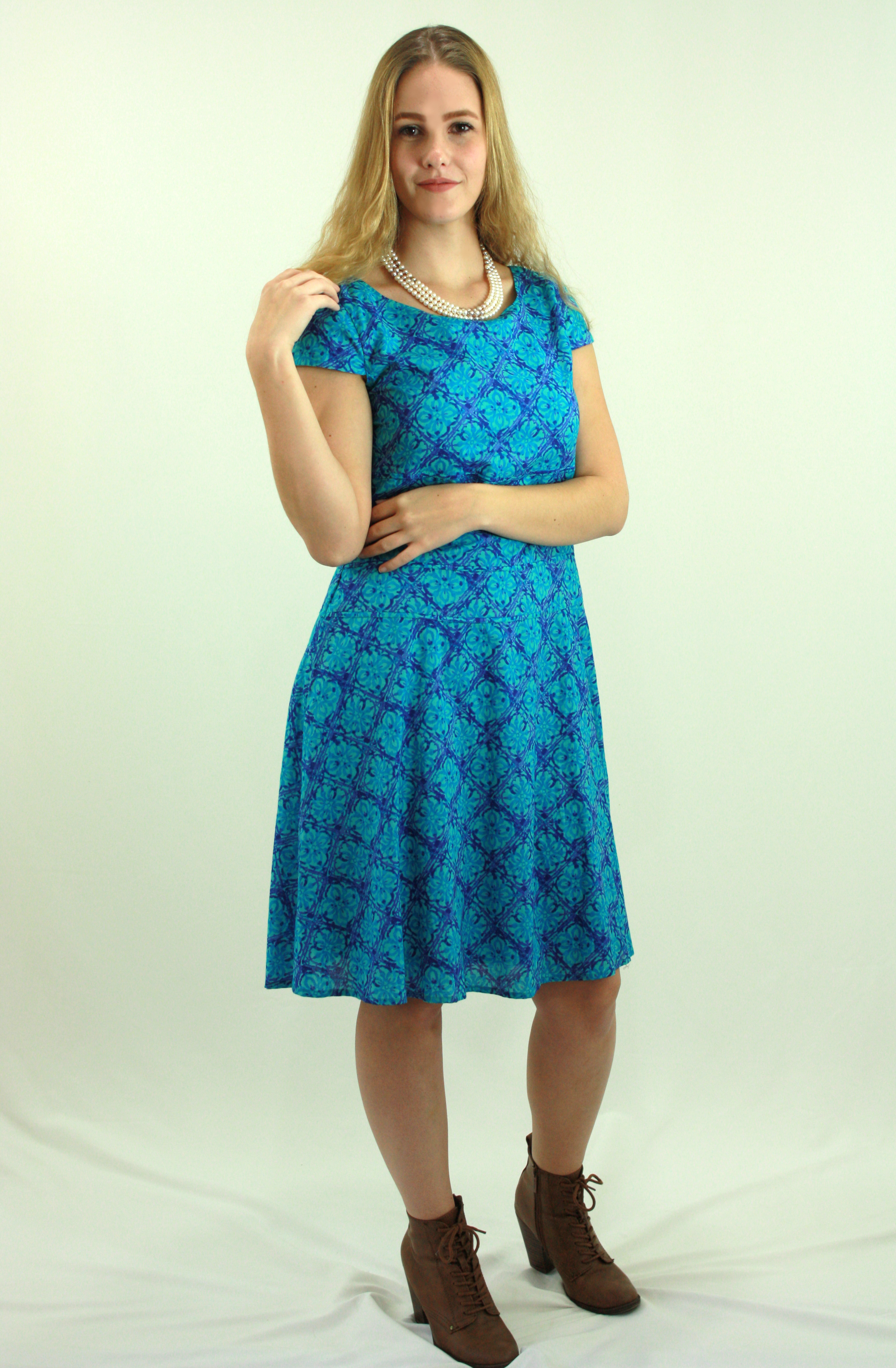 Turquoise causal dress