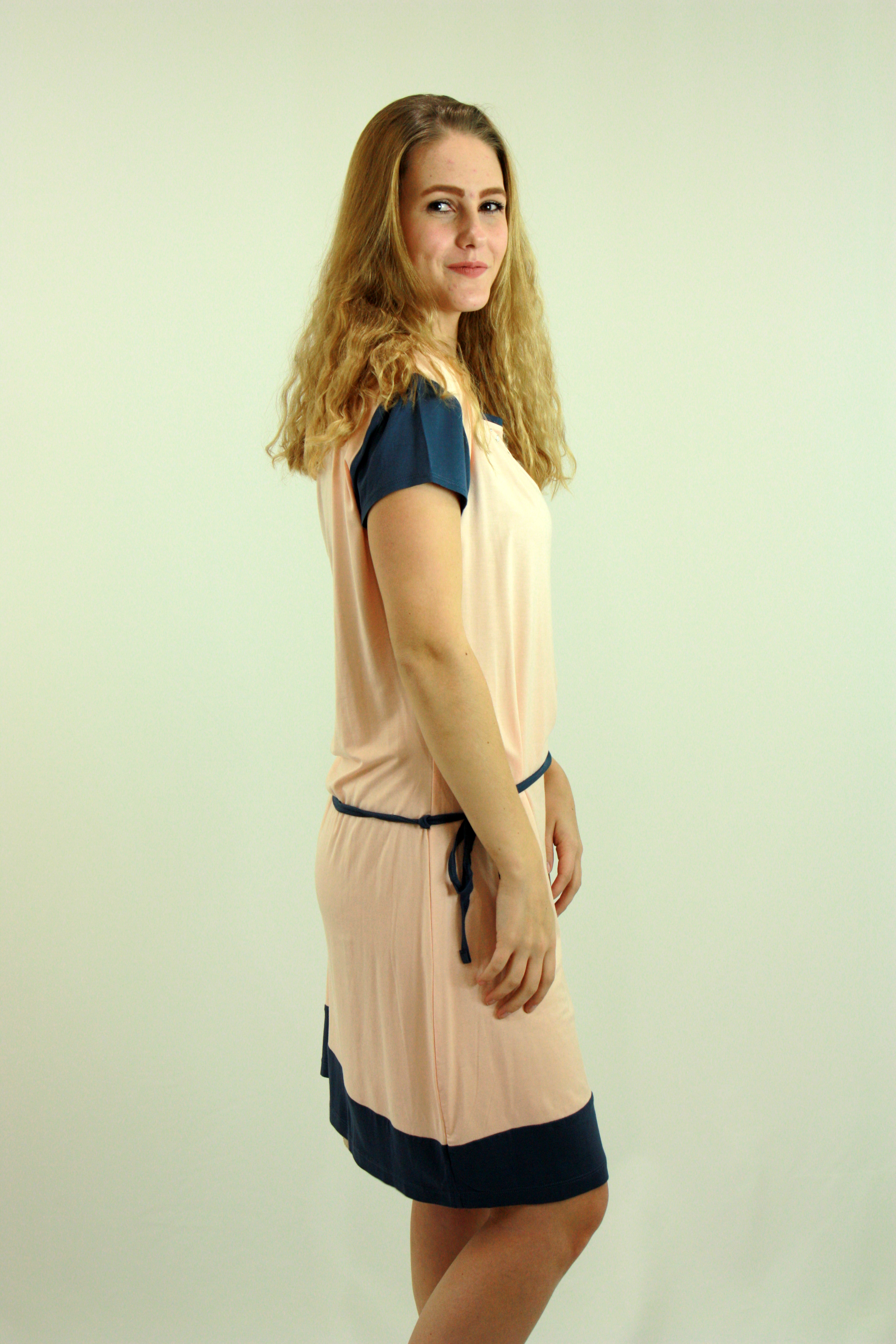Pink sleeve dress