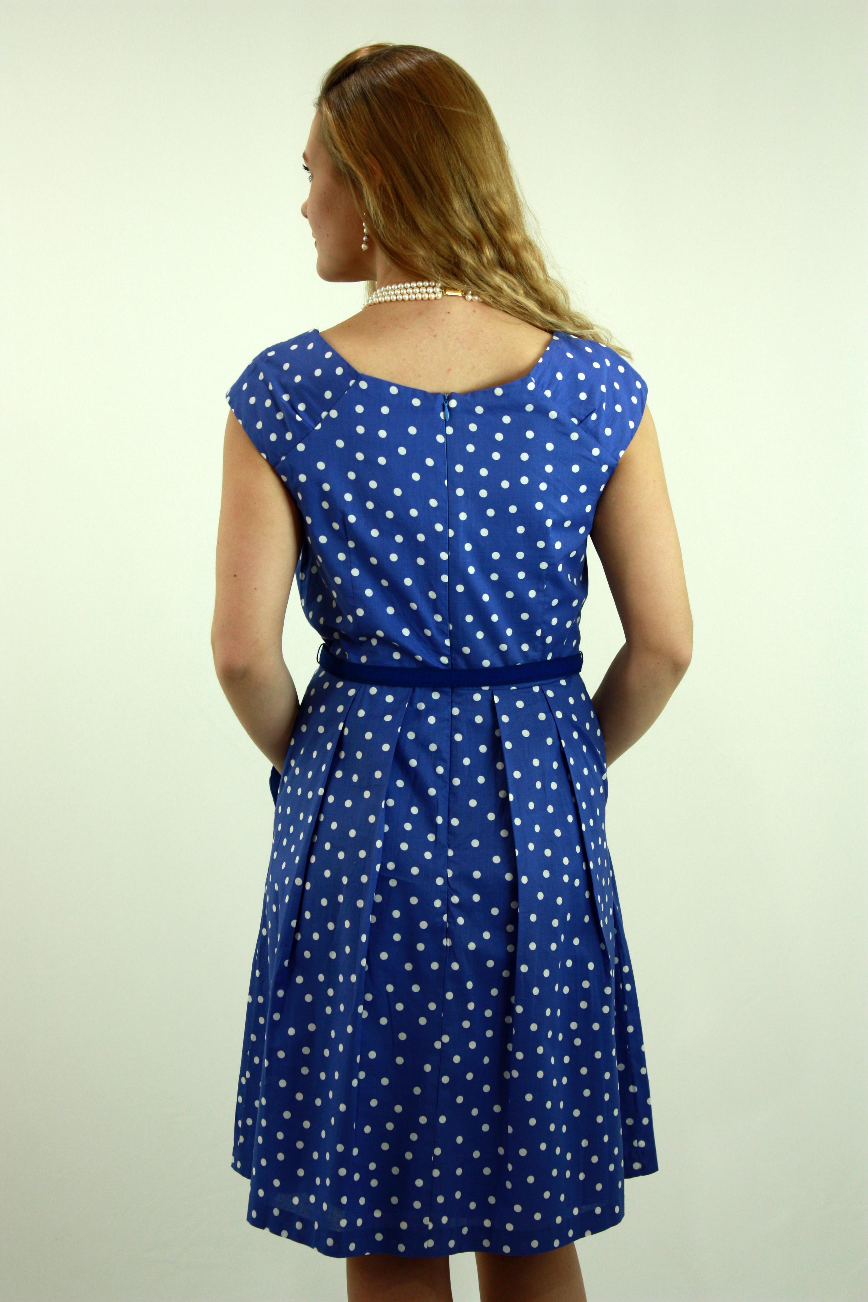 Polka dot blue dress