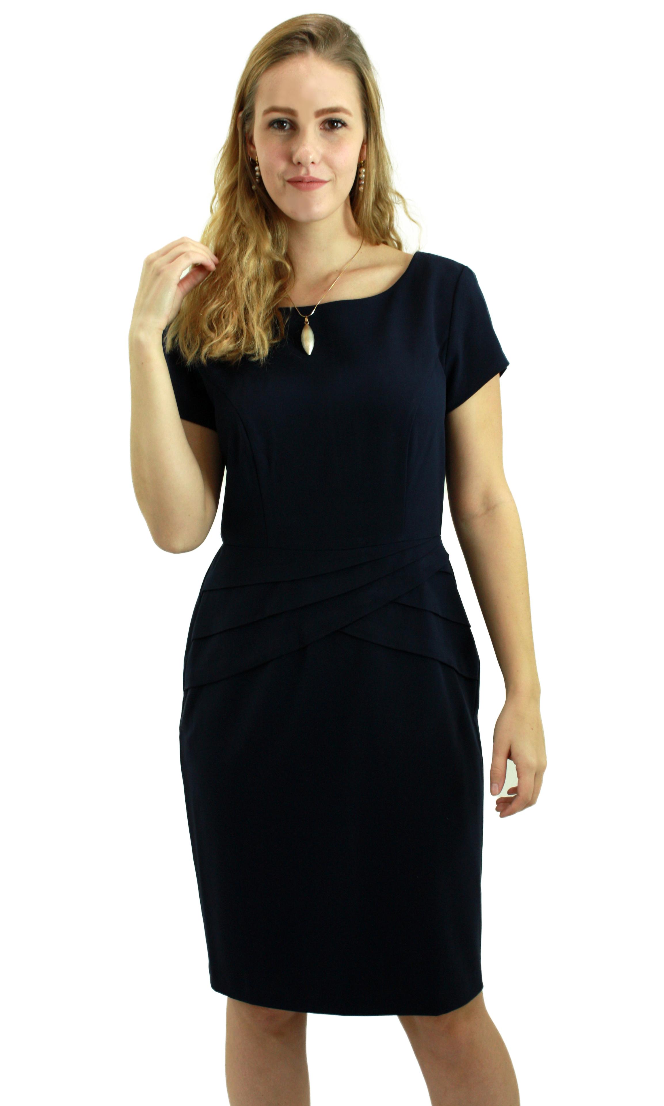 Navy Woven Dress DRNV013
