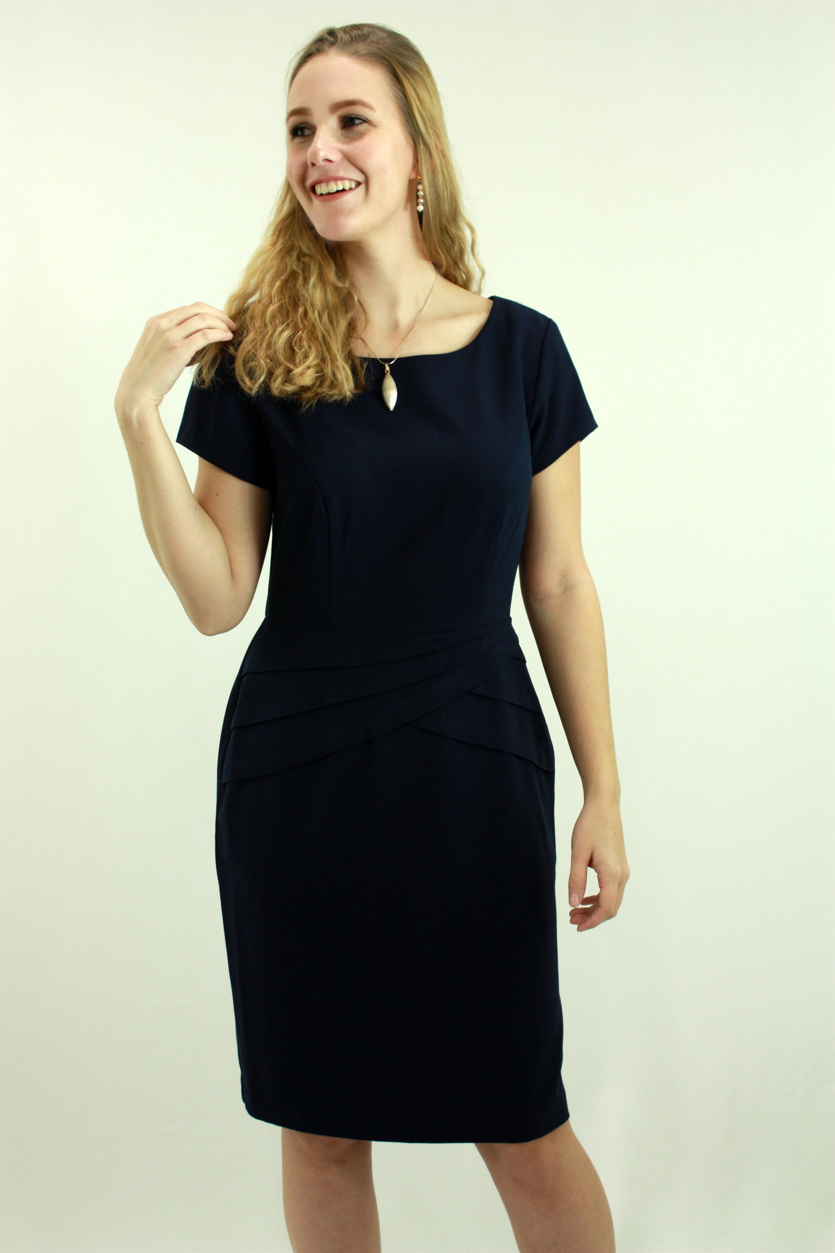 Navy woven dress