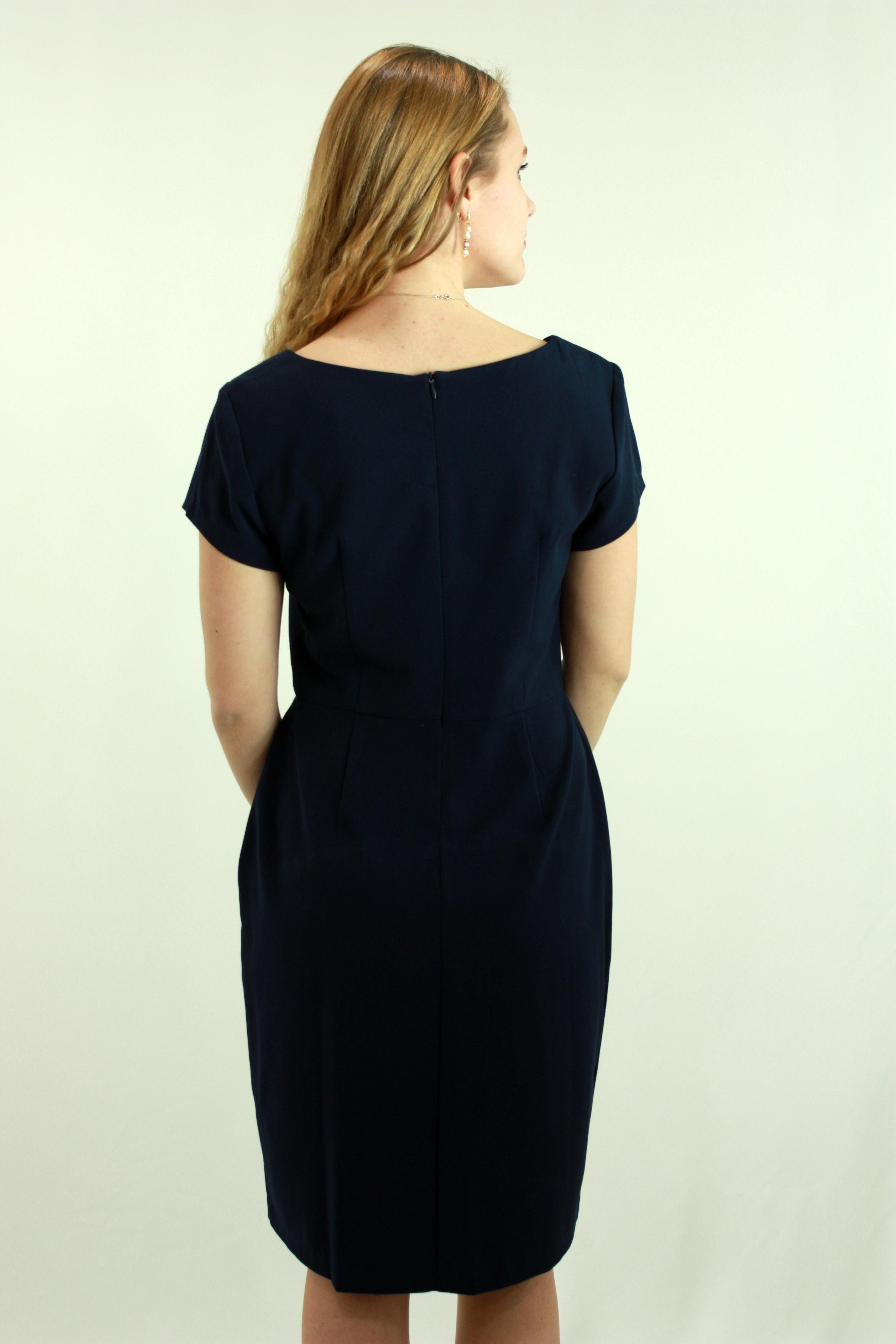 Navy blue causal dress