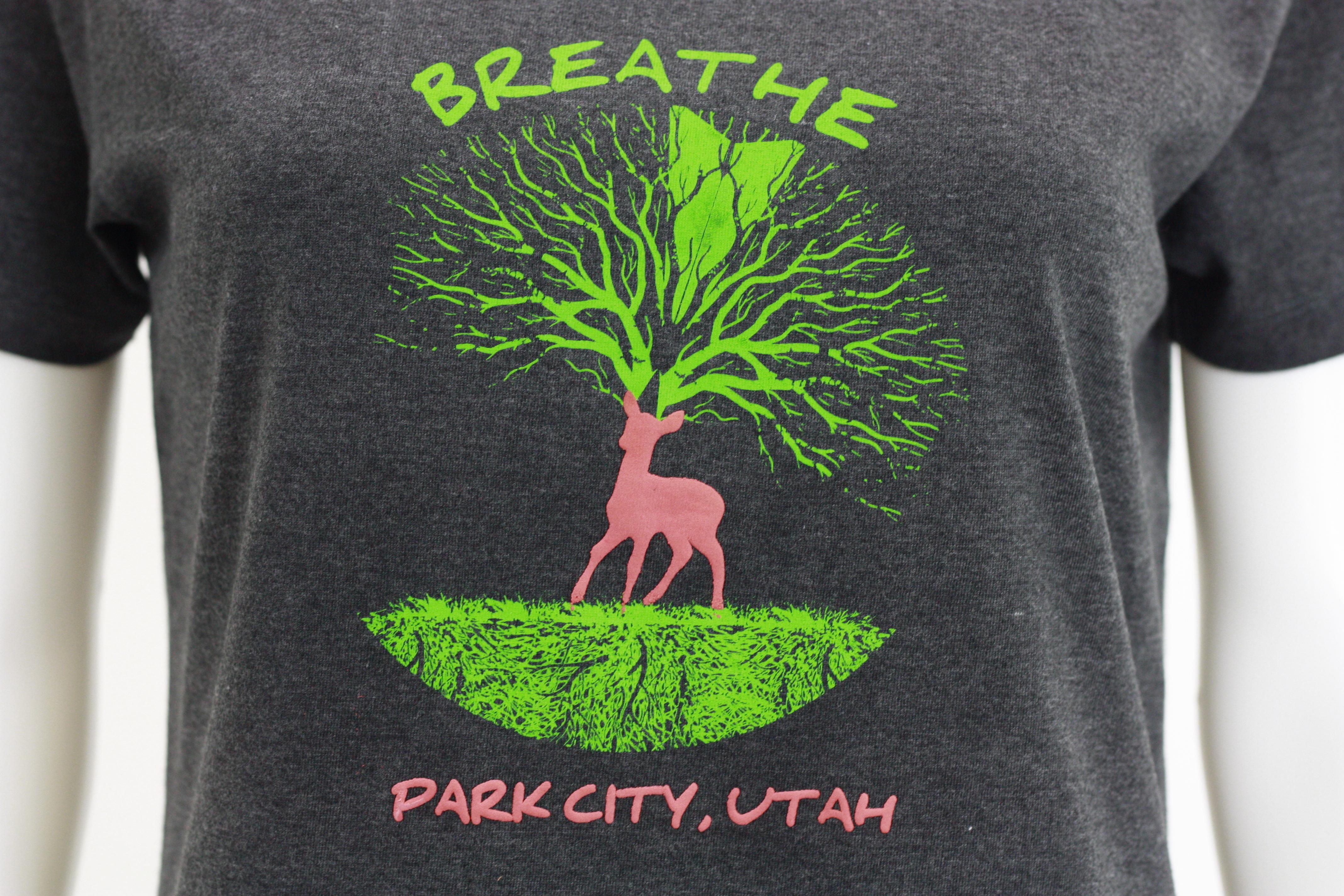 Breathe charcoal tee