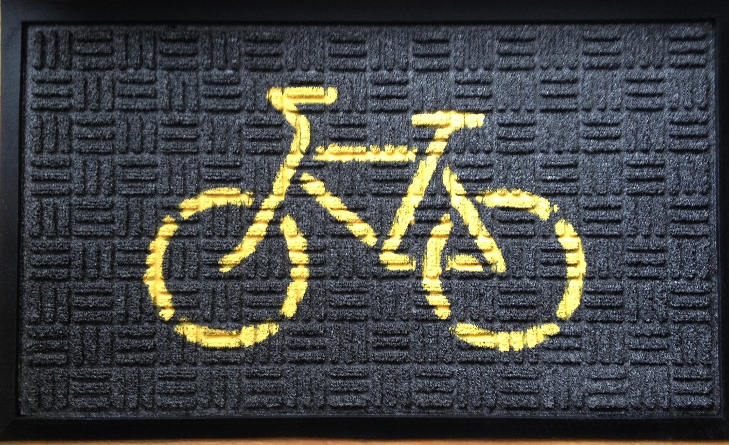 Doormat (Yellow on Black)